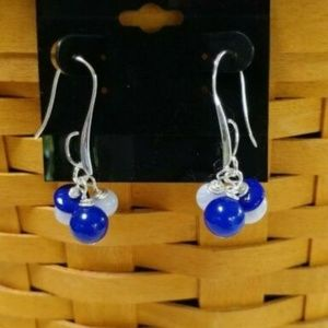 Sundance J.S.Jill Jade Blue Lace Agate SS Earrings